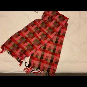 Accessories - Pink plaid soft winter scarf
